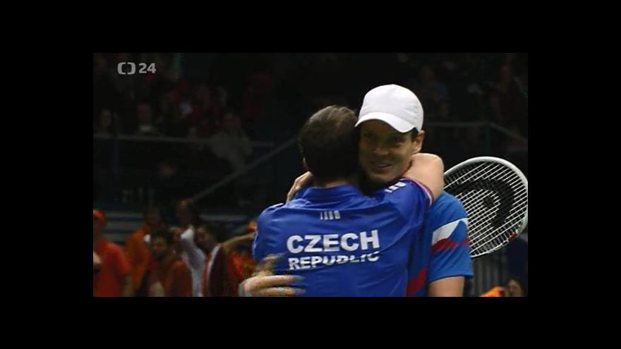 Video Sestřih čtyřhry DC Česko - Nizozemsko