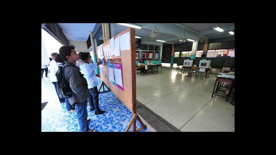 Video Volby v Thajsku poznamenala blokáda volebních místností