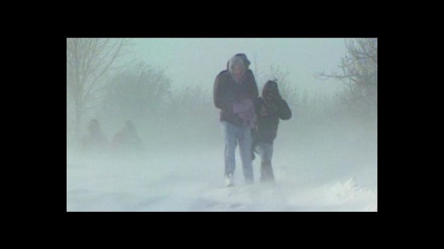 Video Sníh trápí Evropu
