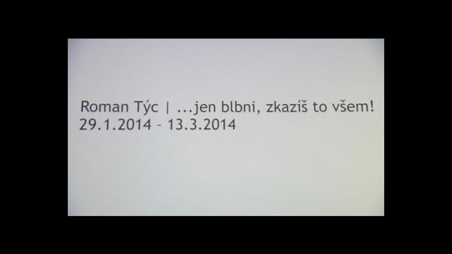 Video Výstavu Romana Týce komentuje Radek Wohlmuth