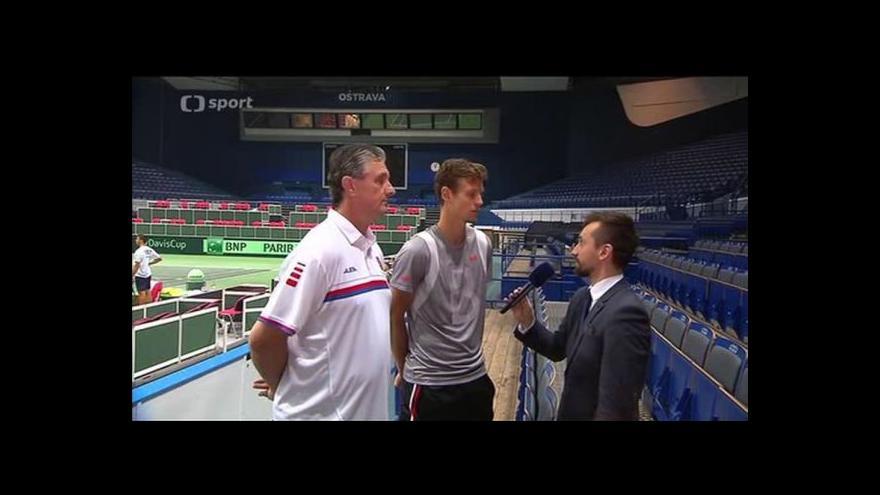 Video Rozhovor před Davis Cupem: Jaroslav Navrátil a Tomáš Berdych