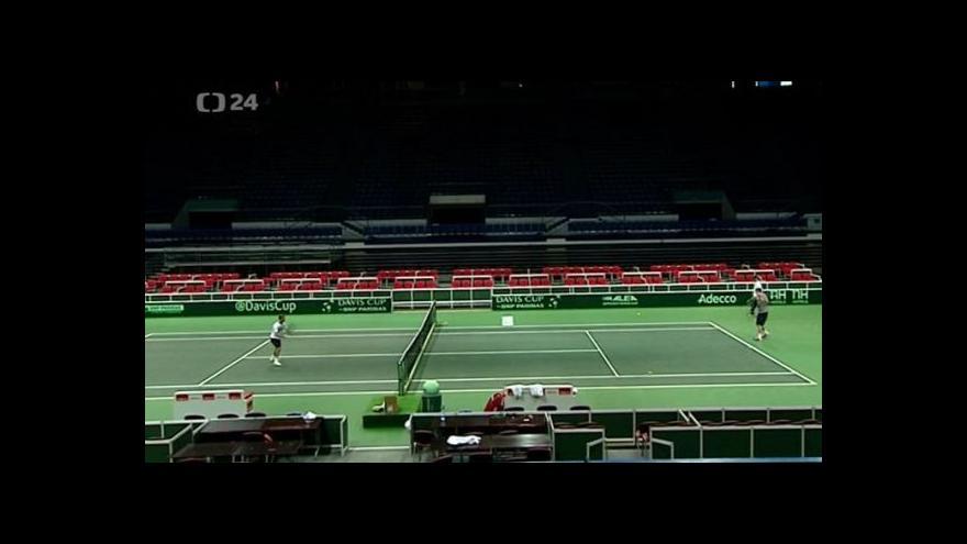 Video Ostrava se připravuje na Davis Cup