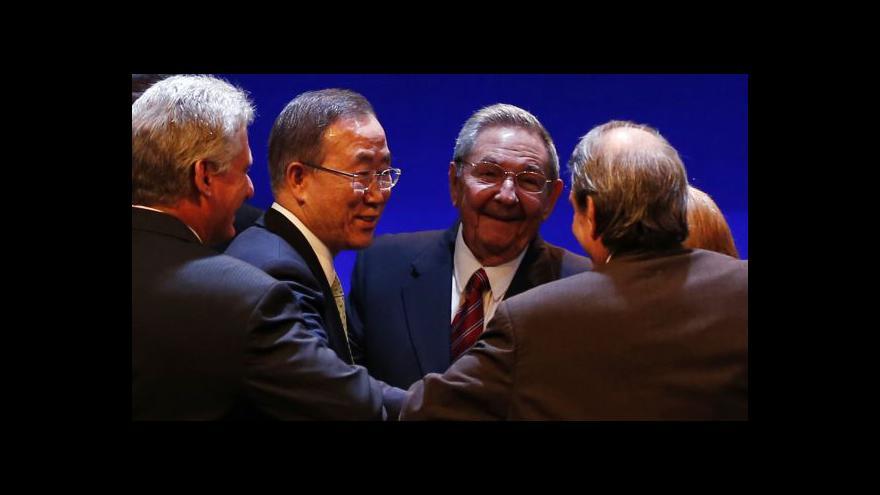 Video Generální tajemník OSN přijel poprvé ve funkci na Kubu