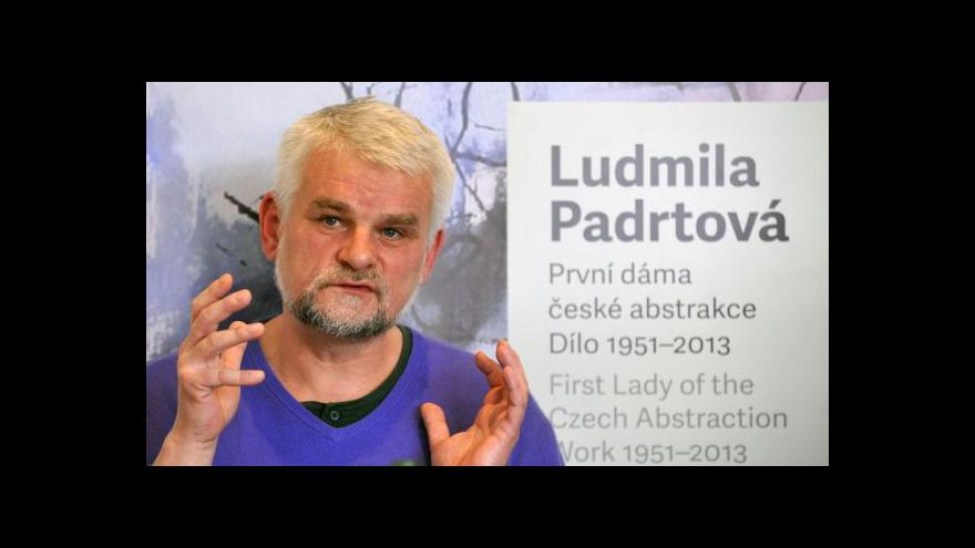 Video První dáma české abstrakce vystavuje v Olomouci