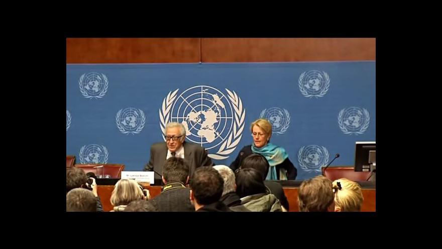 Video V Ženevě pokračují jednání o Sýrii