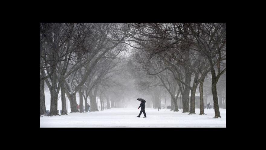 Video Bez komentáře - sníh Washington
