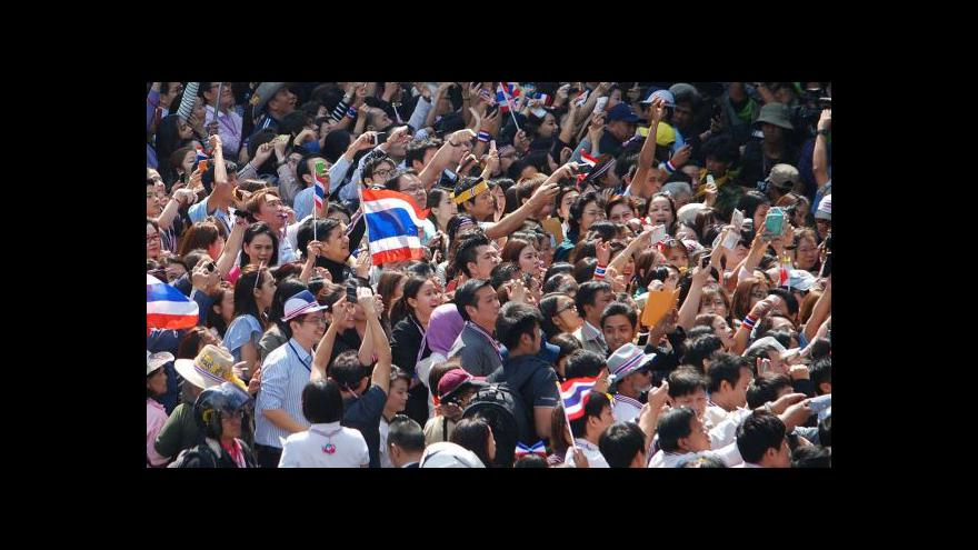 Video Thajská vláda vyhlásila od středy výjimečný stav