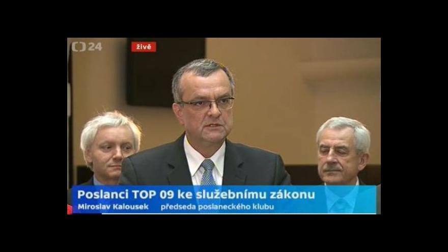 Video Brífink poslaneckého klubu TOP 09 k nadcházející schůzi sněmovny a služebnímu zákonu