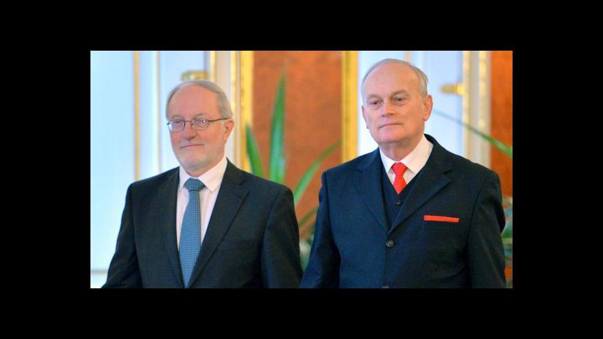 Video Prezident jmenuje Jiřího Zemánka a Jana Musila ústavními soudci