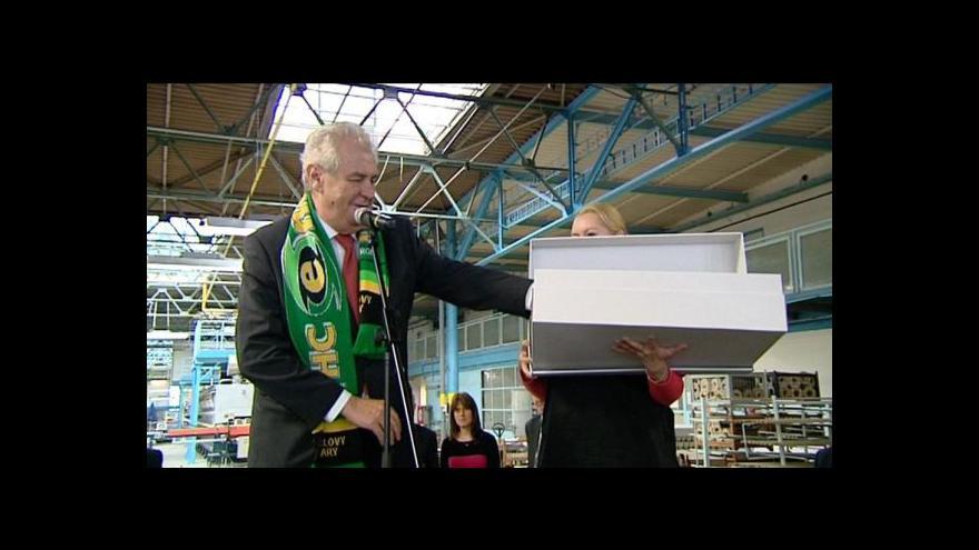 Video Předávání darů při návštěvě prezidenta v Karlovarském kraji