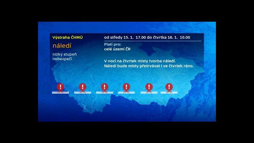 Video Meteorolog ČT Jan Šrámek: Na severozápadě země hrozí i ledovka
