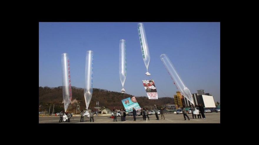 Video Jihokorejští aktivisté poslali do KLDR balony s letáky i rádii