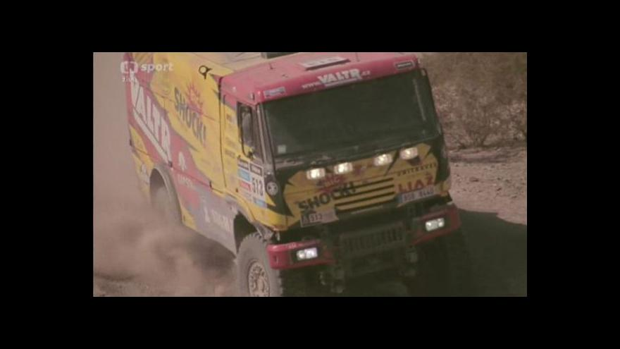 Video Valtrovi selhal motor a Dakar pro něj skončil