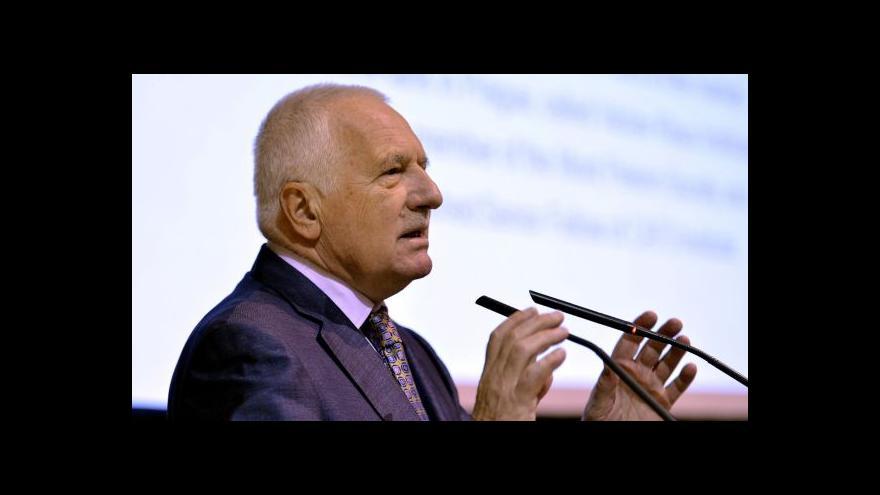 Video Klaus: Jsem proti likvidování lustračního zákona