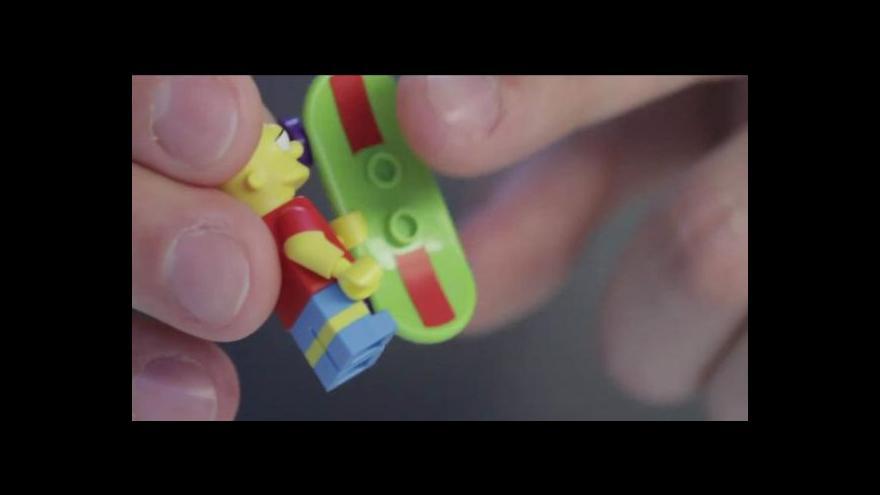 Video Simpsonovi jako lego tématem Ekonomiky ČT24