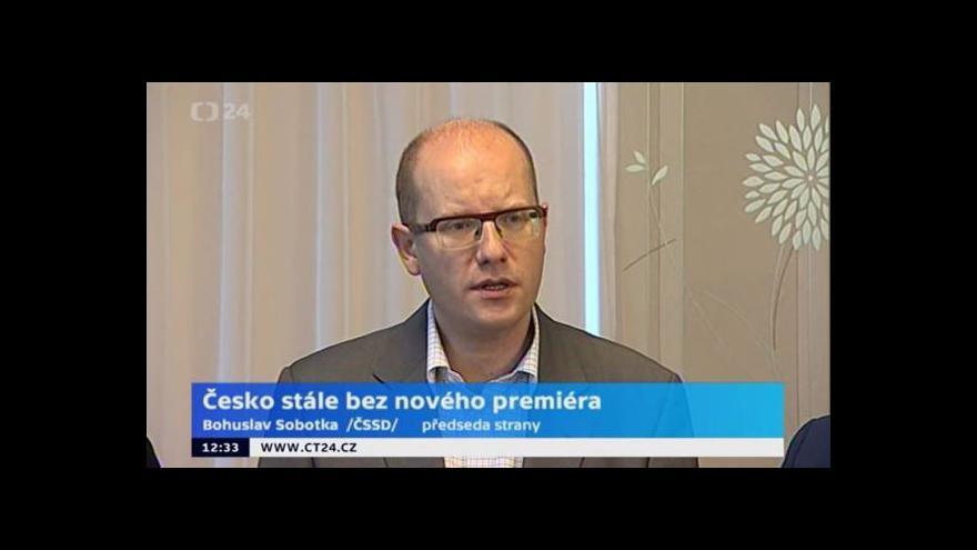 Video Brífink předsedy ČSSD Sobotky při návštěvě Zlínského kraje