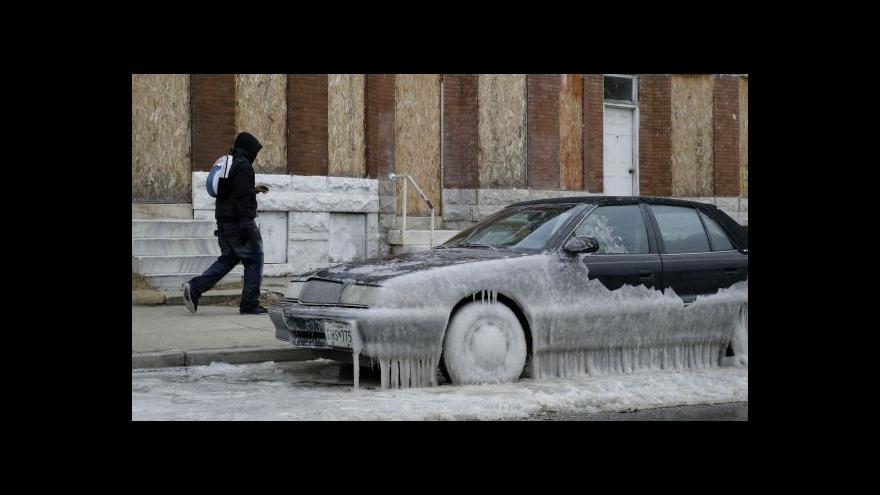Video Martin Řezníček k mrazům v USA