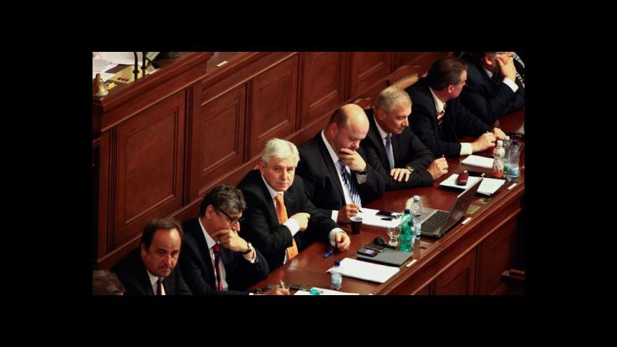 Video Zasedání vlády v Židlochovicích jako téma UvR