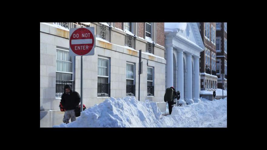 Video Mrazy postupují na východ USA
