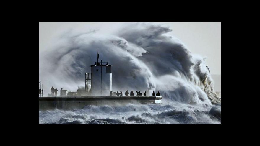 Video Hana Scharffová o počasí na západě Evropy