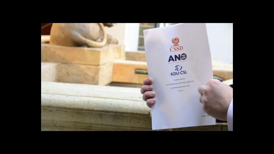 Video Jednání o koalici završil podpis smlouvy