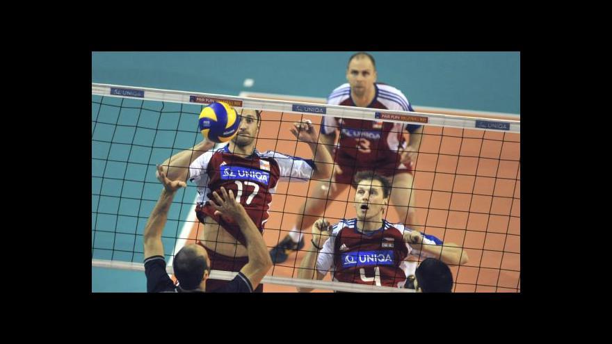 Video Sestřih utkání volejbalistů Česká republika - Kypr