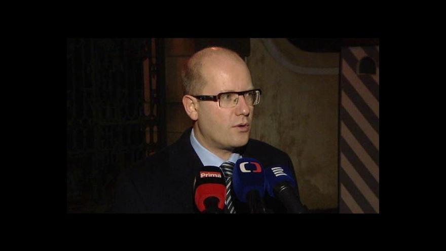 Video Brífink Bohuslava Sobotky po setkání v Lánech