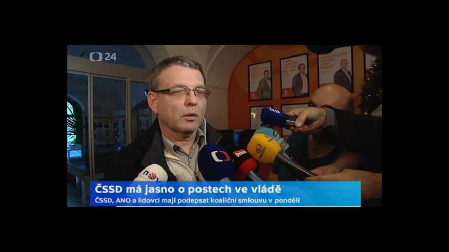 Video Lubomír Zaorálek: O kandidátech je v tuto chvíli jasno
