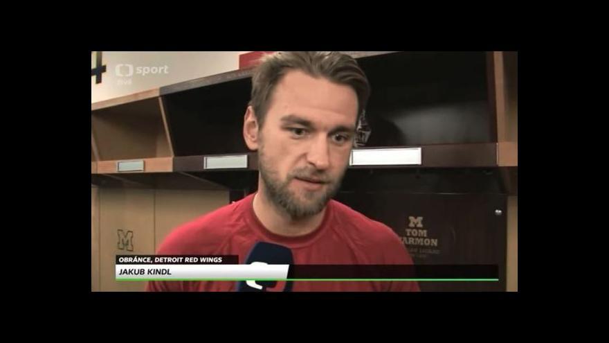 Video Jakub Kindl a Petr Mrázek si pochvalovali atmosféru Winter Classic