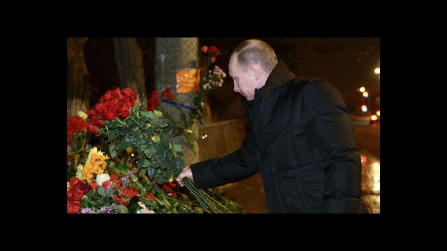Video Události: Putin ve Volgogradu navštívil zraněné