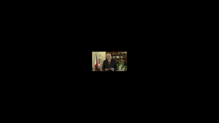 Video Novoroční projev prezidenta republiky Václava Klause 2013