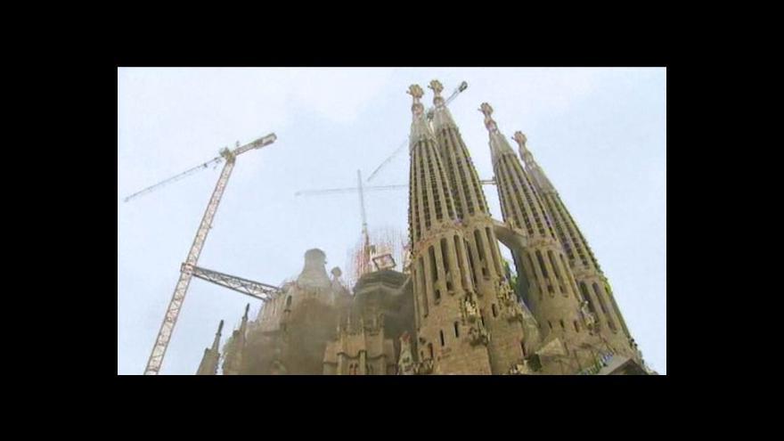 Video Animace dokončení chrámu Sagrada Familia