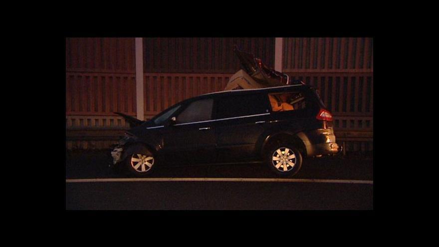 Video Dálnici D5 zablokovala na 5 hodin nehoda