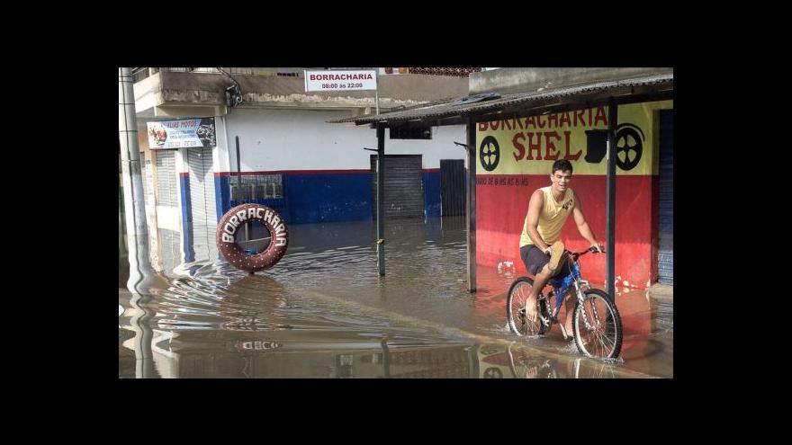 Video Při povodních v Brazílii zemřely desítky lidí
