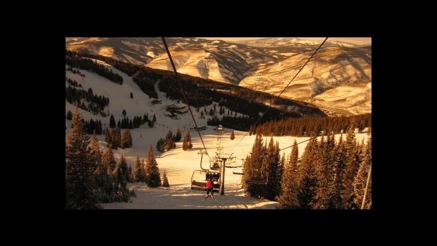 Video Situace ve francouzských lyžařských střediscích