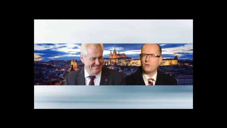 Video Sobotka předloží seznam ministrů Zemanovi po Novém roce
