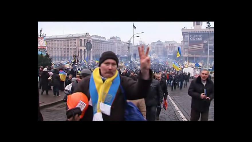 Video V centru Kyjeva se opět konala prozápadní demonstrace