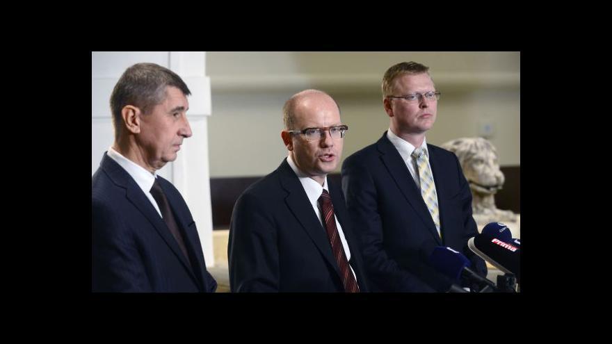 Video Vyjádření lídrů budoucí koalice