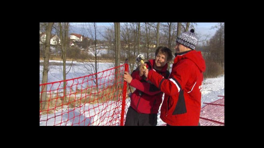 Video Aleš Hazuka o práci na sjezdovce ve Frymburku