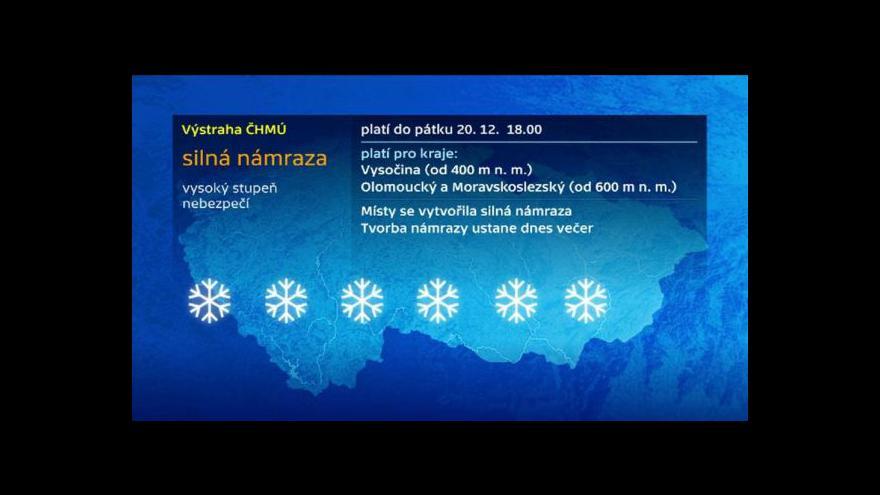 Video Meteorolog Michal Žák o hrozbě náledí