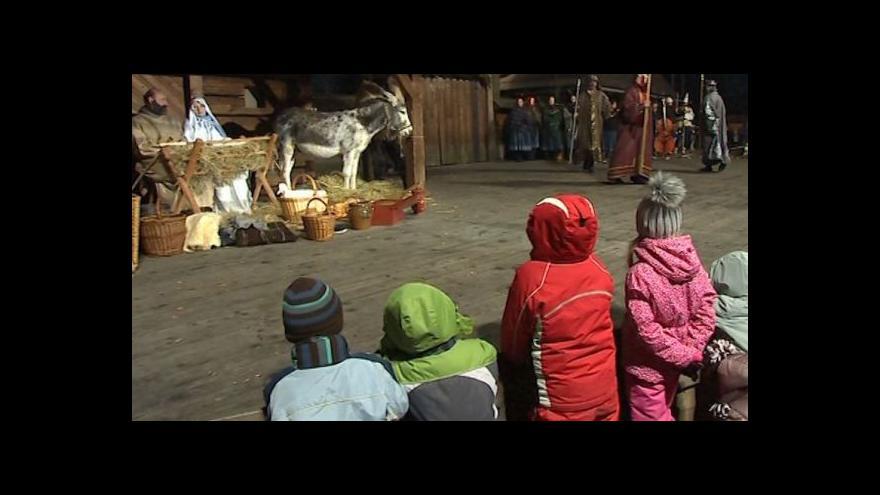 Video No comment: Živý betlém v Rožnově pod Radhoštěm