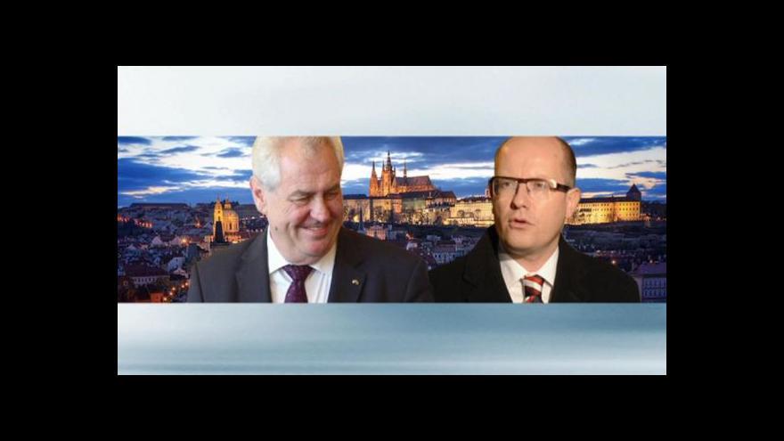 Video Bohuslav Sobotka zavítal k prezidentovi kvůli koalici