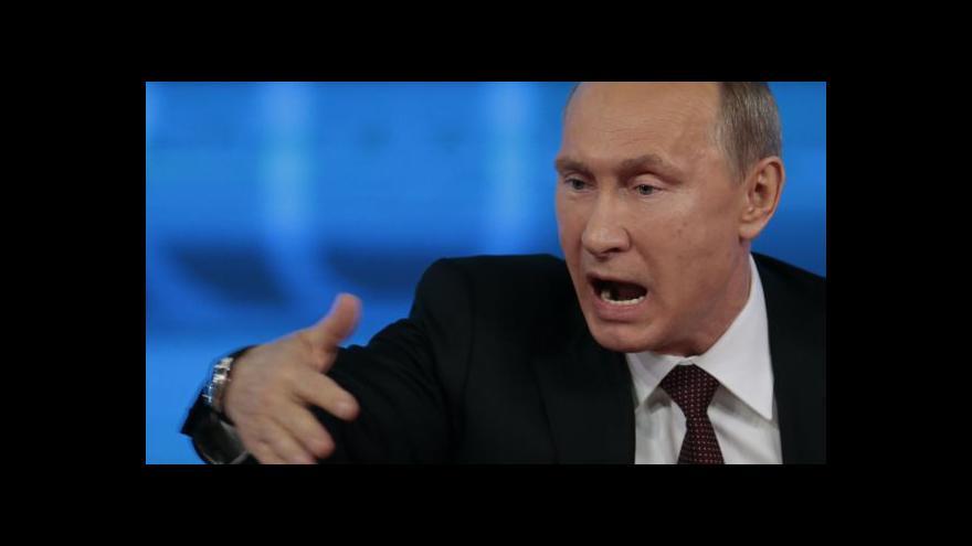 Video Putin na brífinku hovořil o raketách Iskander i smlouvě s Ukrajinou