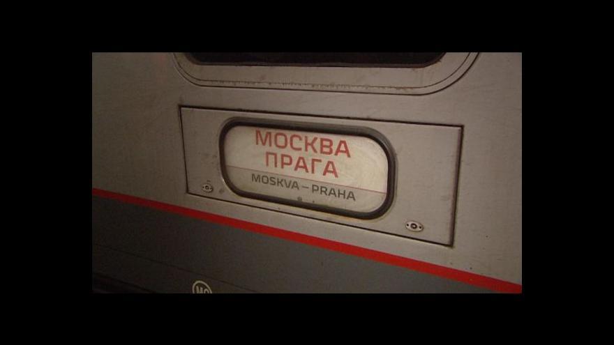 Video Nový spoj Praha–Moskva