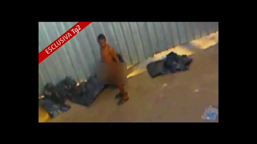 Video Horizont 24 o nedůstojném zacházení s uprchlíky na Lampeduse