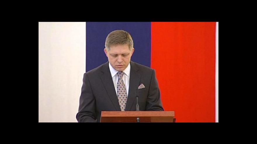 Video Horizont 24 o ohlášené Ficově prezidentské kandidatuře