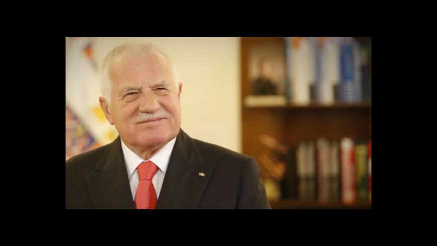Video Václav Klaus vyhlašuje novoroční amnestii