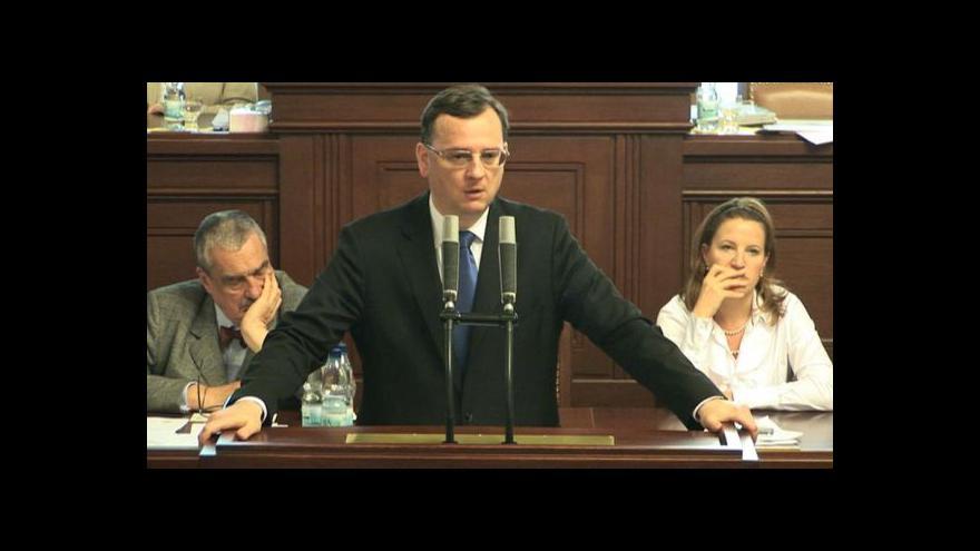 Video Premiér Petr Nečas vyvětluje zásah ÚOOZ