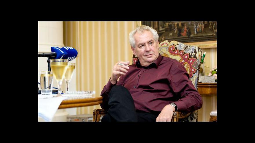 Video Miloš Zeman vypráví židovskou anekdotu