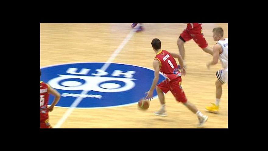 Video Sestřih basketbalového utkání USK Praha - Pardubice